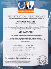 ISO 9001: 2015 Registered - Yonkers