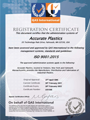 ISO 9001: 2015 Registered - Falmouth